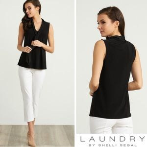 NWT Laundry By Shelli Segal Front Tie Blouse